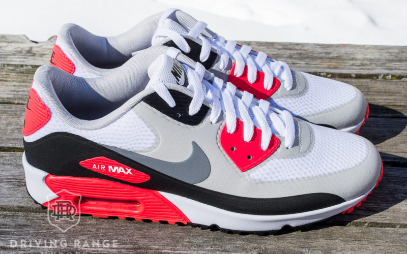 Nike Air Max 90 Infrared Golf Shoe Review - Driving Range Heroes